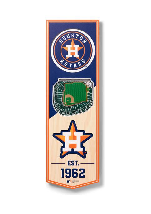 MLB Houston Astros 3D Stadium Banner-6x19