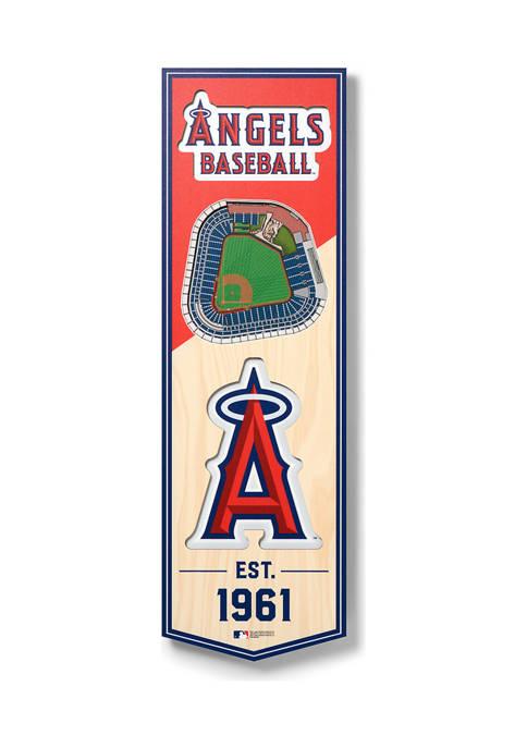 MLB Los Angeles Angels 3D Stadium Banner-6x19