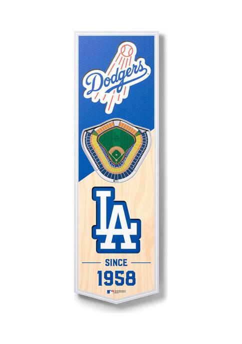 MLB Los Angeles Dodgers 3D Stadium Banner-6x19
