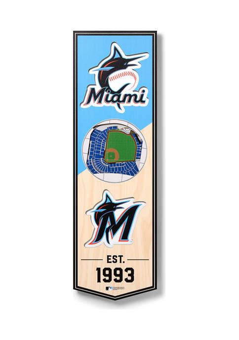 MLB Miami Marlins 3D Stadium Banner-6x19