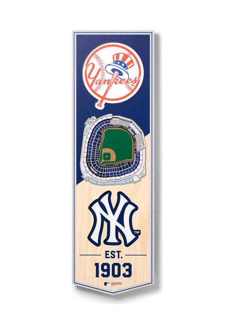 MLB New York Yankees 3D Stadium Banner-6x19