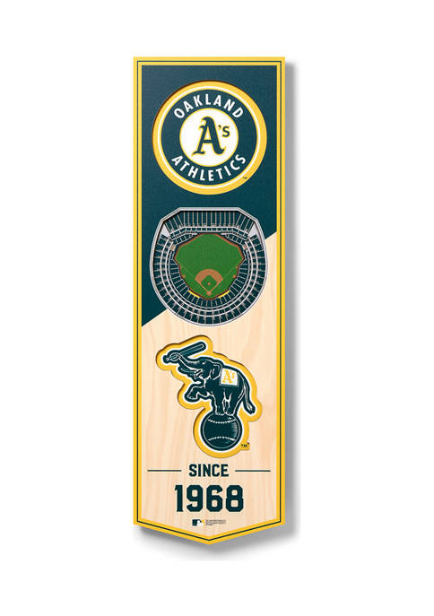 MLB Oakland Athletics 3D Stadium Banner-6x19