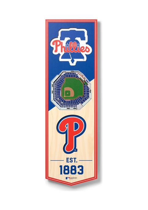 MLB Philadelphia Phillies 3D Stadium Banner-6x19