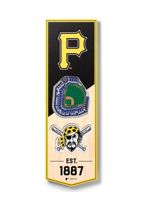 MLB Pittsburgh Pirates 3D Stadium Banner-6x19