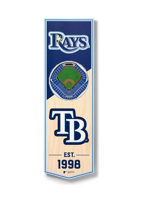 MLB Tampa Bay Rays 3D Stadium Banner-6x19