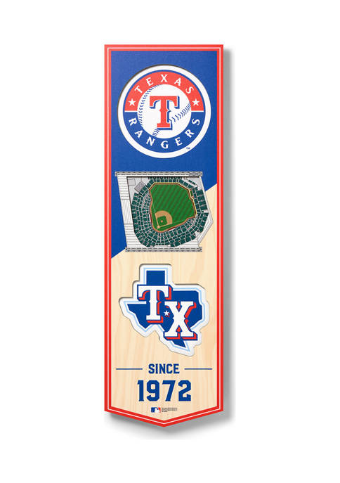MLB Texas Rangers 3D Stadium Banner-6x19