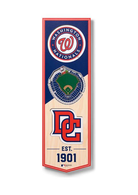 MLB Washington Nationals 3D Stadium Banner-6x19
