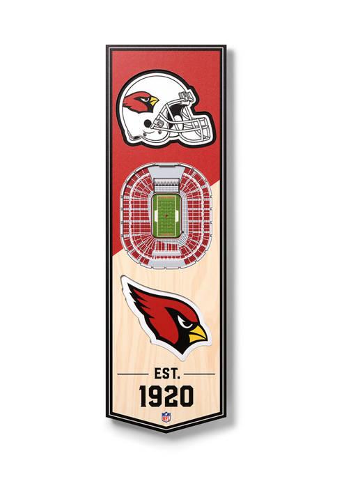 NFL Arizona Cardinals  3D Stadium Banner-6x19