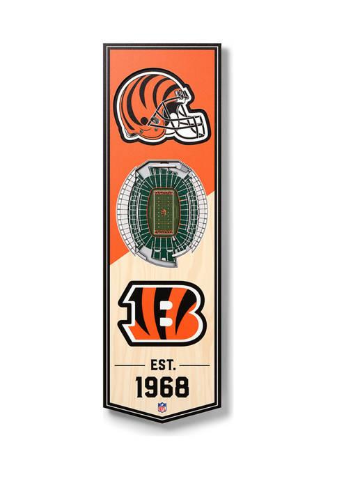 NFL Cincinnati Bengals  3D Stadium Banner-6x19