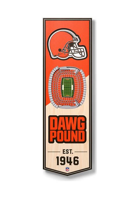 NFL Cleveland Browns  3D Stadium Banner-6x19