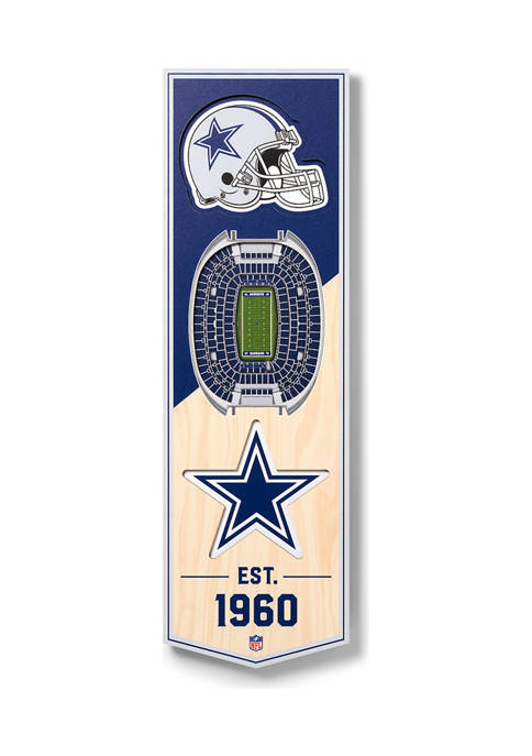 NFL Dallas Cowboys  3D Stadium Banner-6x19