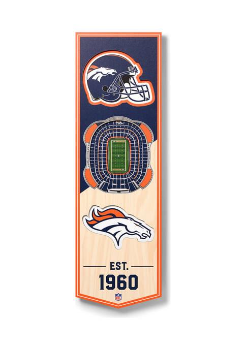 NFL Denver Broncos  3D Stadium Banner-6x19