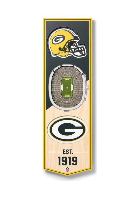 NFL Green Bay Packers  3D Stadium Banner-6x19