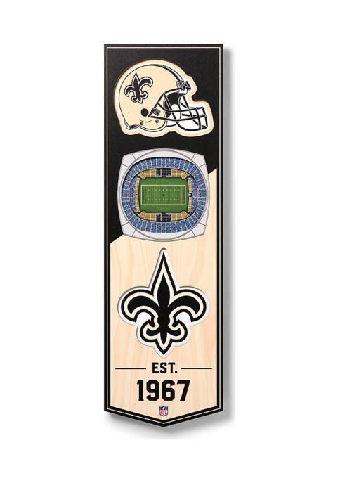 NFL New Orleans Saints  3D Stadium Banner-6x19