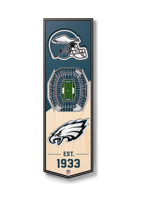 NFL Philadelphia Eagles  3D Stadium Banner-6x19