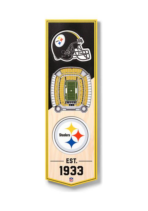 NFL Pittsburgh Steelers  3D Stadium Banner-6x19