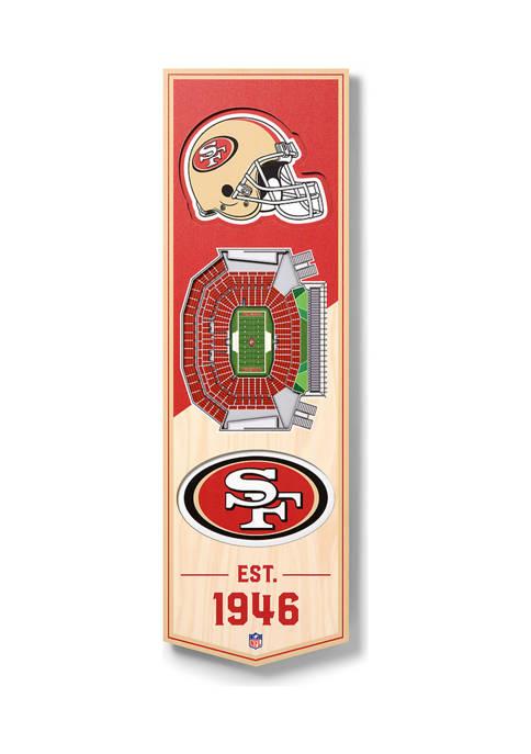 NFL San Francisco 49ers  3D Stadium Banner-6x19
