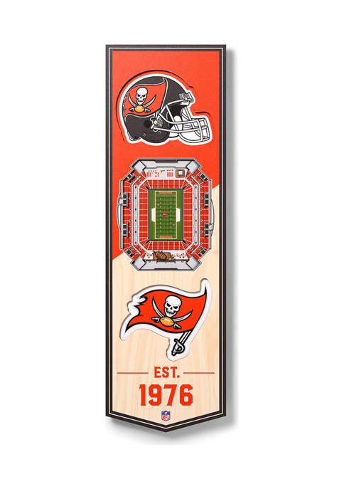NFL Tampa Bay Buccaneers  3D Stadium Banner-6x19