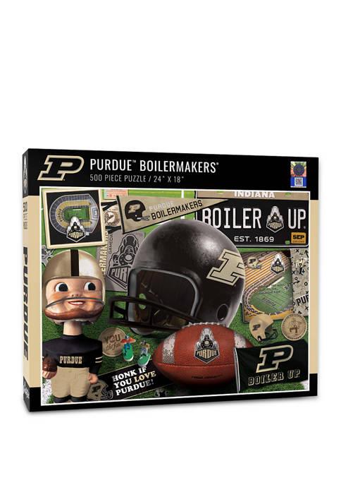 NCAA Purdue Boilermakers-FB Retro Series Puzzle - 500 Pieces
