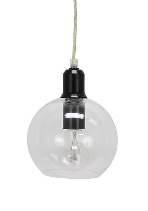 Décor Therapy Chadwick Clear Glass Globe Pendant