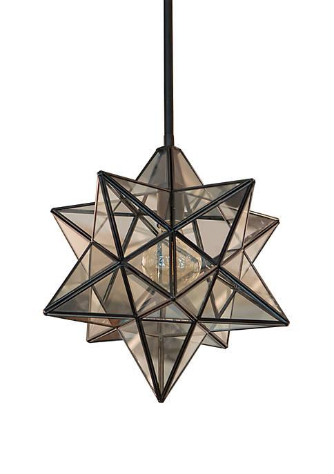 Star Shaped One Light Pendant