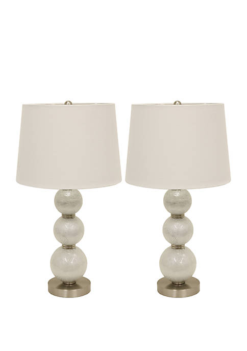 Décor Therapy Set of Two Tri-Tiered Glass Table