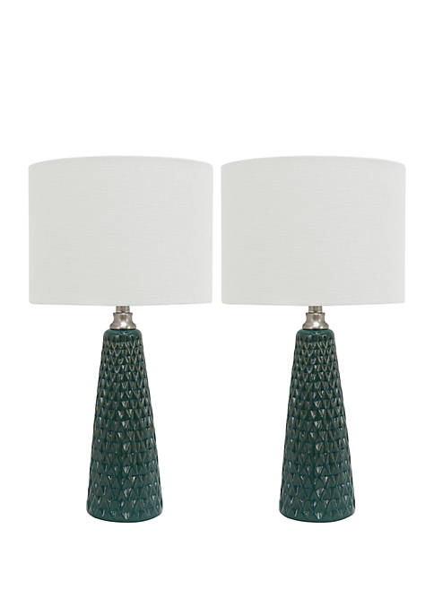 Décor Therapy Set of Two Jameson Textured Ceramic