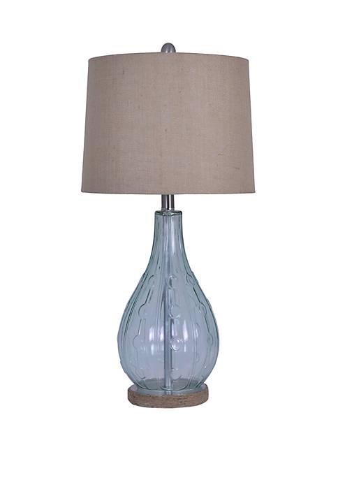 Décor Therapy Emma Embossed Glass Table Lamp