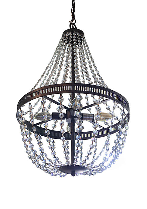 Décor Therapy Harlow Orb and Crystal Chandelier