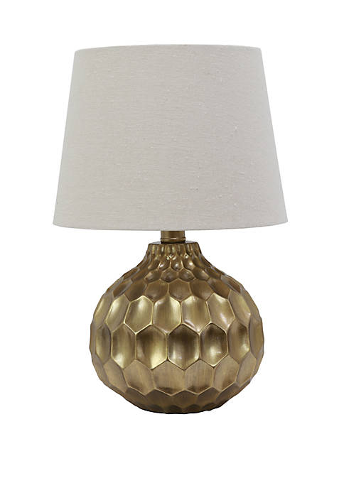 Bing Faceted Table Lamp with Linen Shade