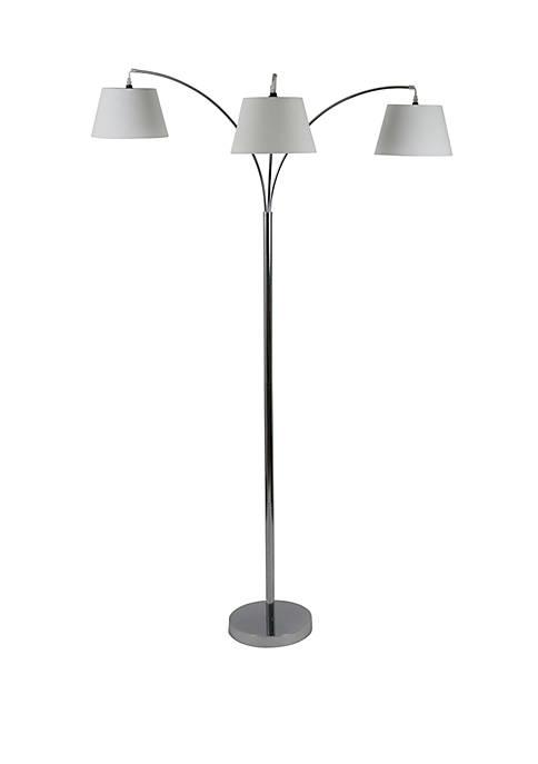 Décor Therapy Ashbury 3 Arm Shaded Floor Lamp
