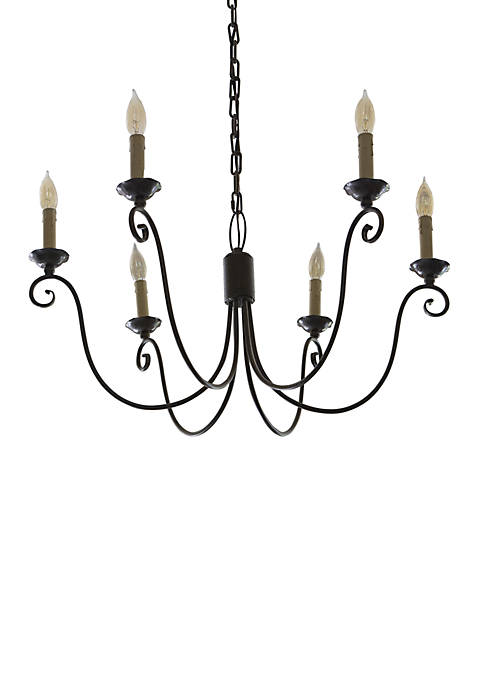 Décor Therapy Serenella 6 Light Chandelier