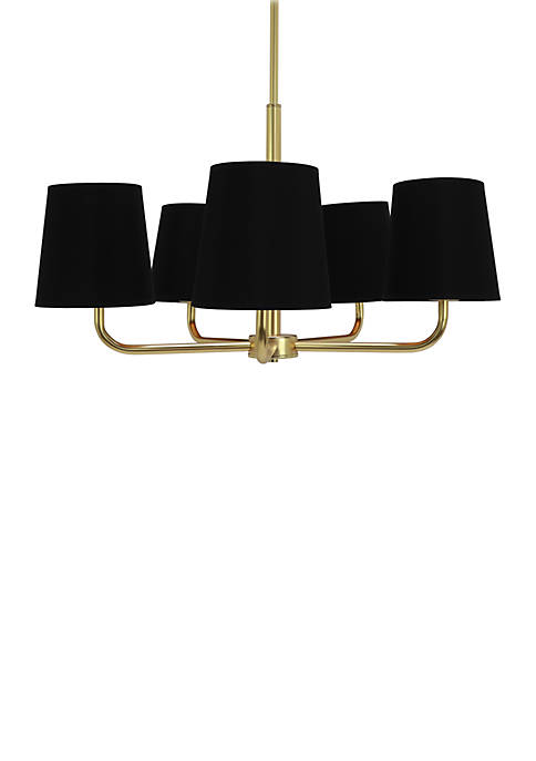 Décor Therapy Evelyn 5 Light Plated Metal Chandelier
