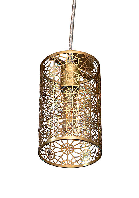 Décor Therapy Lucy Laser Cut Plated Metal Pendant