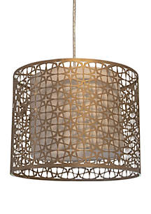 Décor Therapy Lana Laser Cut Steel Drum Shade Pendant