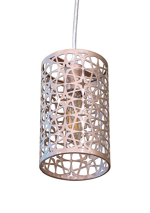 Décor Therapy Leah Laser Cut Plated Metal Pendant