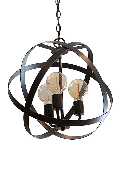 Décor Therapy Reese 3 Light Semi Flush Orb