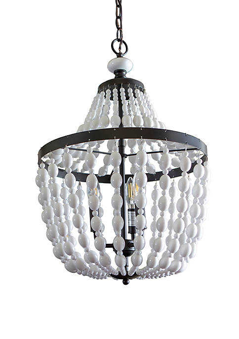 Décor Therapy Avery Beaded 3 Light Chandelier