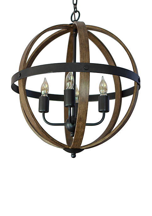Décor Therapy Mason Metal and Wood 4 Light