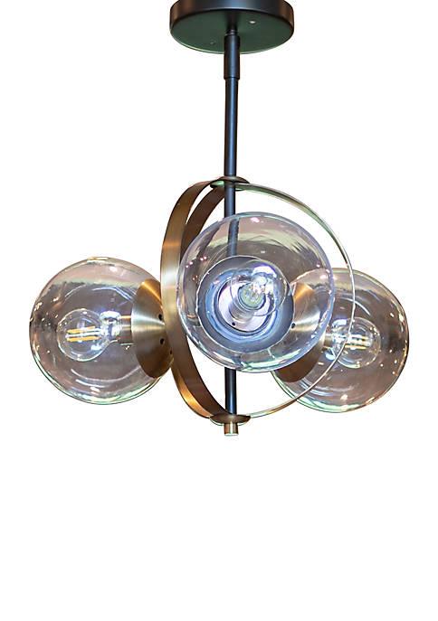 Décor Therapy Griggs Globe 3 Light Semi Flush