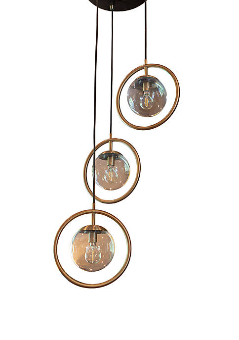 Décor Therapy Griggs Globe 3 Light Pendant