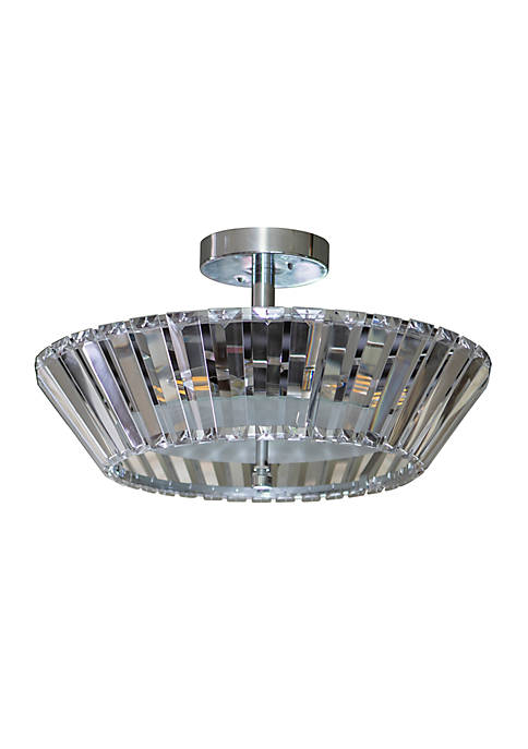 Décor Therapy Emerson Crystal 3-Light Semi Flush Mount