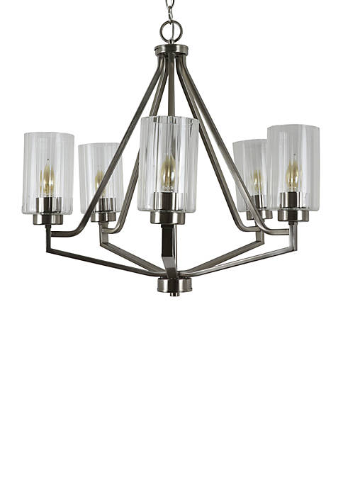 Décor Therapy Bolton Crystal 5 Light Chandelier