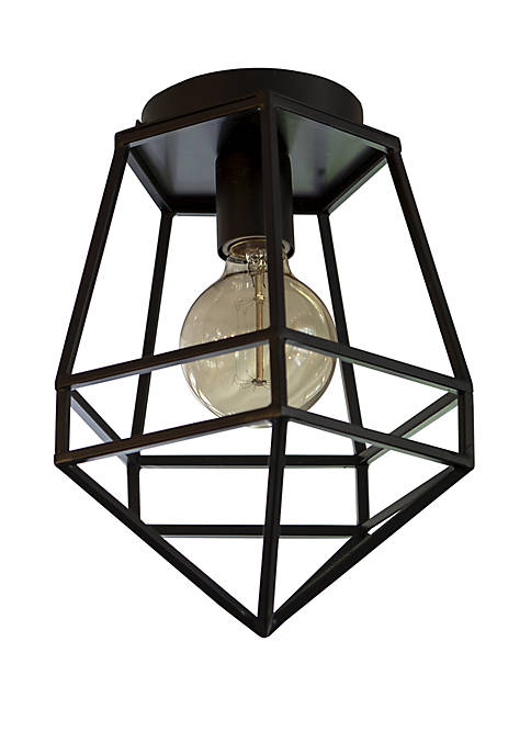 Décor Therapy Doyle Geometric One Light Flush Mount
