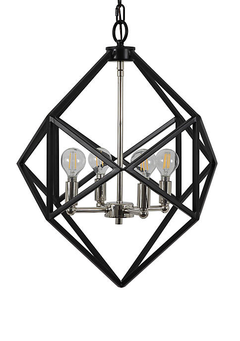 Décor Therapy Alexa Metal Geometric 4 Light Pendant