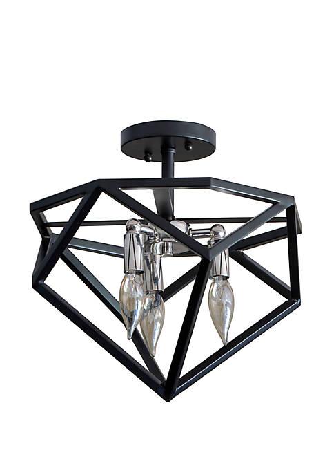 Décor Therapy Alexa Metal Geometric 3 Light Semi