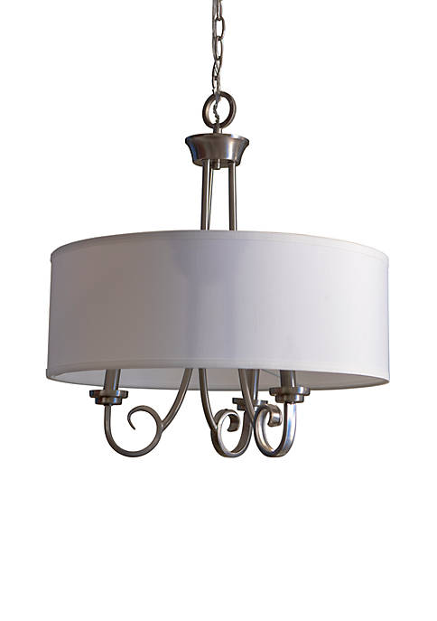 Décor Therapy Maisie 3 Light Chandelier with Drum
