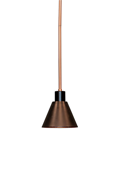 Décor Therapy Carly One Light Metal Pendant
