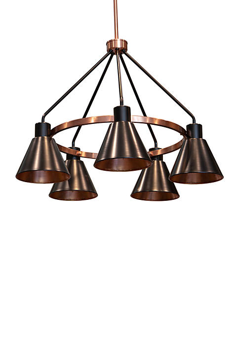 Décor Therapy Carly 5 Light Metal Chandelier
