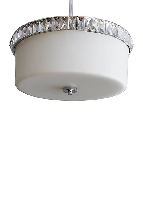 Cora Crystal and Glass 3 Light Pendant